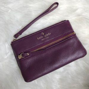 Kate Spade Purple Zip Up Wallet Wristlet Clutch