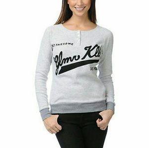 NWT Glamour kills Henley thermal long sleeve shirt