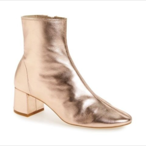 Topshop Chelsea Ankle Boots Metallic Rose Gold 8.5