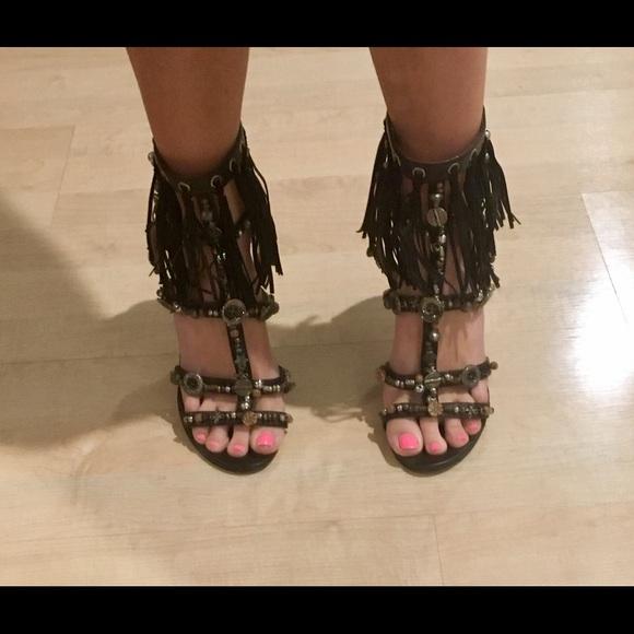 Jimmy Choo Fringe Gladiator Sandals