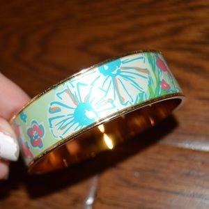 Lilly Pulitzer Gold & Pattern Ceramic Bangle