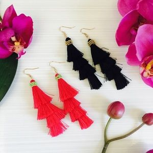 Jewelry - Three Tassel Earrings