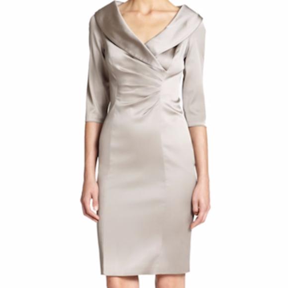b112f8b4 Kay Unger Dresses & Skirts - Kay Unger Portrait Collar Stretch Satin Sheath