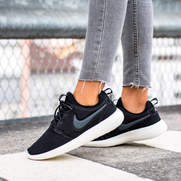 Women s Nike Roshe Two Black Sneakers 48bb0e96987e