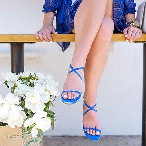 Banana Republic blue leather strap sandals