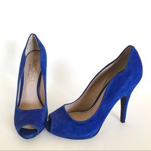 Rachel Roy Electric Blue Peep Toe Pumps