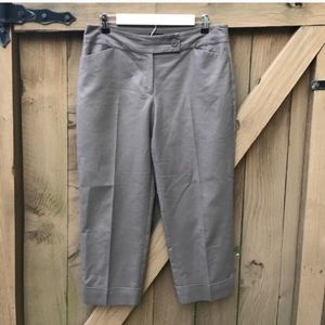Ann Taylor curvy taupe cropped pants size 8