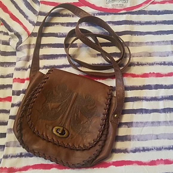 2cbd8ec3dfd H M Bags   Hm Faux Leather Crossbody Saddle Bag   Poshmark