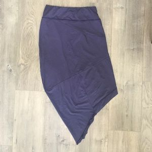 Sisley Asymmetrical Purple Skirt