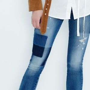 70% OFF 7FAM patch denim ankle skinny