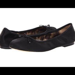 Sam Edelman Black Satin Felicia Ballet Flats