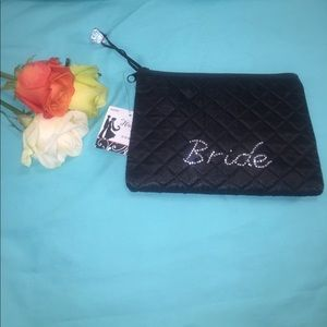 Handbags - Bride Black Quilted Pouch NWT