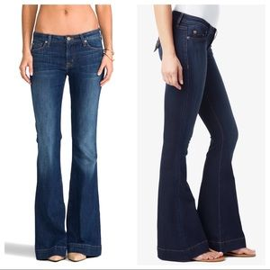 Hudson Ferris flare jeans, medium wash, size 31
