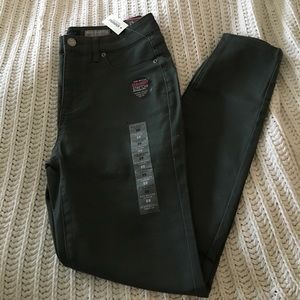 NWT forest green high waisted ankle jegging