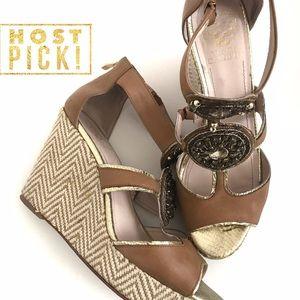 Vince Camuto Embellished Platform Wedge Sandal 8.5