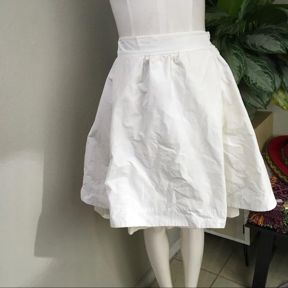 NWT Moncler White Poufy Skirt