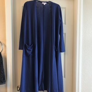 S blue Lularoe Sarah duster cardigan