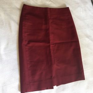 JCrew burgundy pencil skirt
