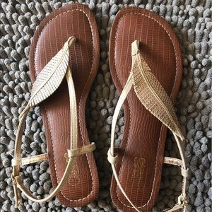 Gold sandals - size 7