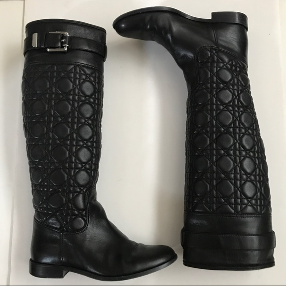 0c4cc54d21f Dior quilted nappa leather boots