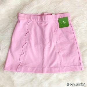 kate spade Cherry Blossom Scallop Pink Skirt
