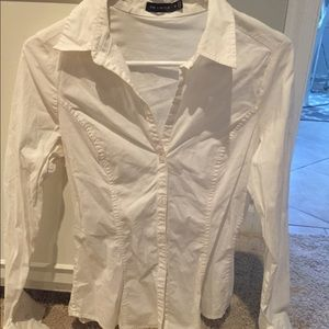 Tops - Limited dress work shirt slim fit white