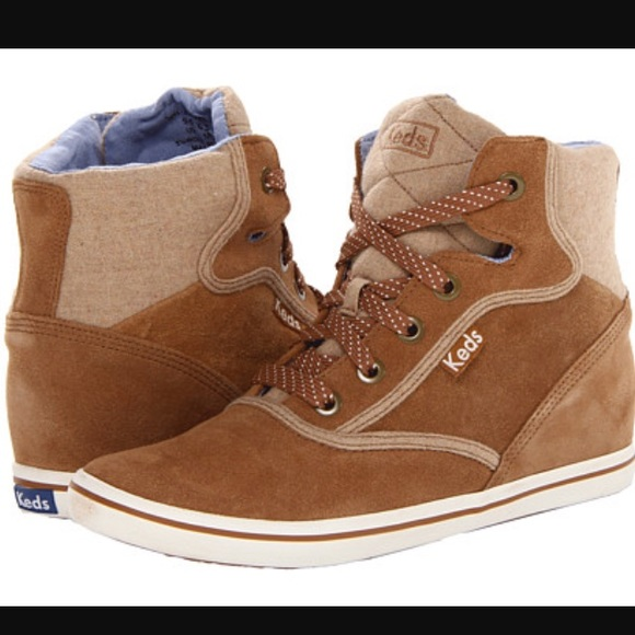 KEDS 8.5 SUEDE ROOKIE WEDGE HIGH TOP SNEAKERS new