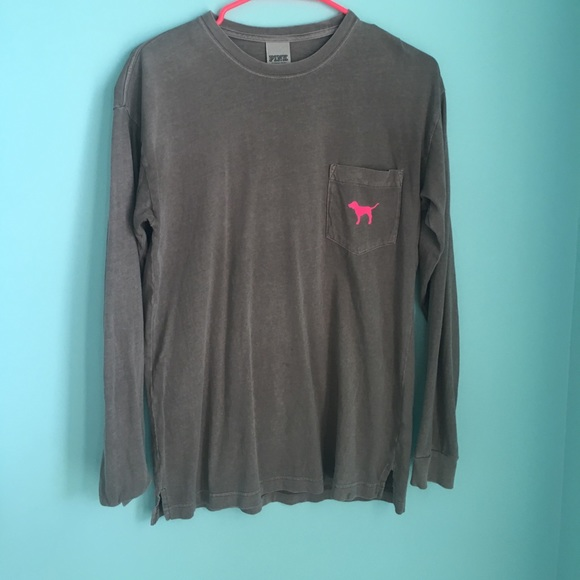 9bf4afdc660ad Victoria's Secret PINK Long Sleeve Pocket Tee