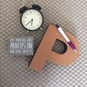 Curated 3D Cork P Letter