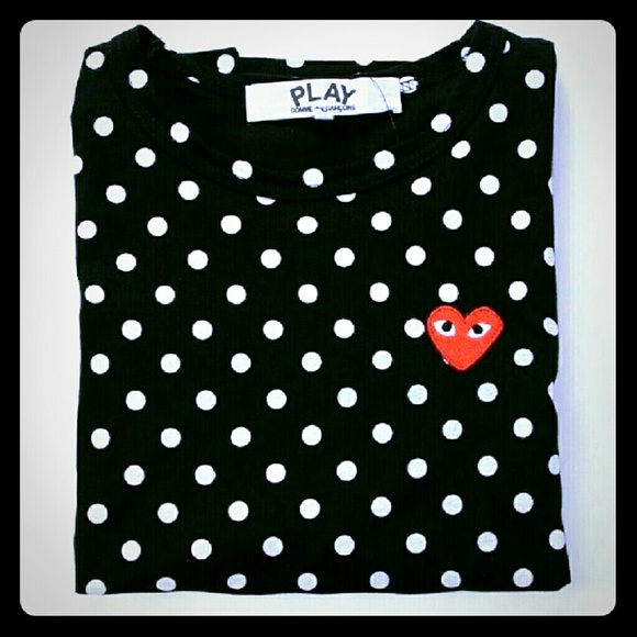 45ae2f00129965 Comme des Garcons Tops - Women s Comme des Garcons CDG Polka Dot shirt