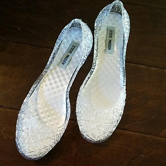 253fae731e7c Clear jelly flat shoes. M 596e8b9b41b4e08527022e0a