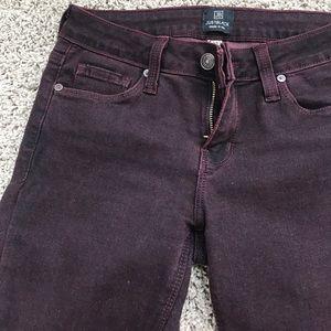 584bc0e935f1 just black Jeans - Dark purple just black brand skinny jeans
