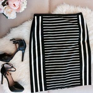 J. Crew Mixed Stripe No. 2 Pencil Skirt