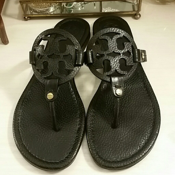 3201fbffca880 Tory Burch Miller Sandals in Black. M 596e8e2e6802786db1023496