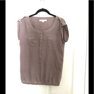 Silky button down shirt from LOFT