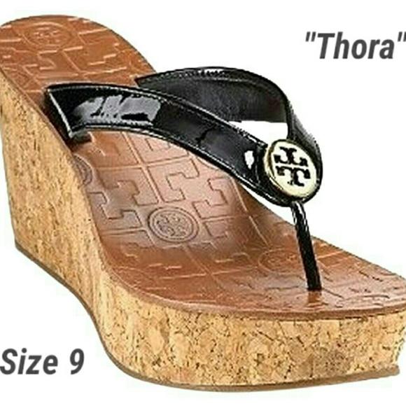 ab0d0a593372d Tory Burch Thora Wedge Flip Flop