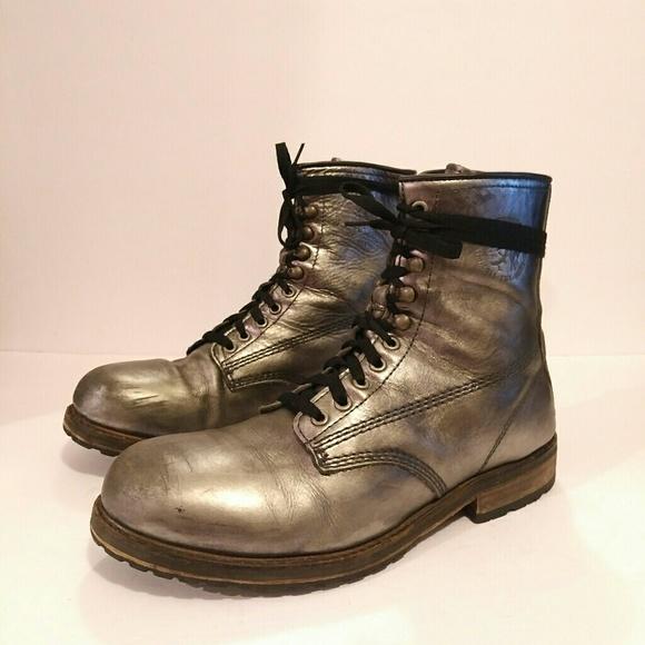 64ca3340f7e DIESEL MENS COMBAT BOOTS SIZE 45 LUG SOLE