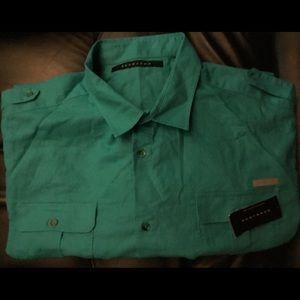 Sean John Linen Blend Short Sleeve Shirt