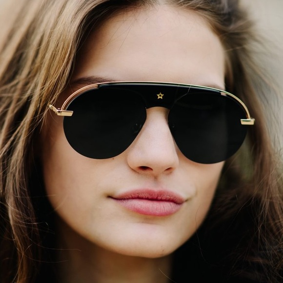 47df2def280 New Dior Evolution Sunglasses in Black Gold 2017
