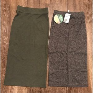 Bundle! 2 H&M body con skirts
