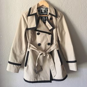 Harolds khaki with black trim all weather jacket