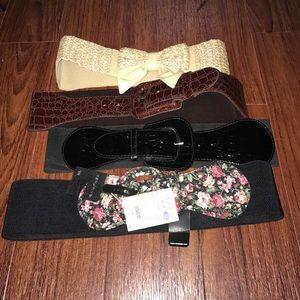 Bundle of 4 Belts - Size Small/Medium.