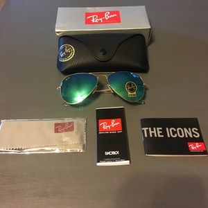 Authentic Ray Ban aviator 58 mm