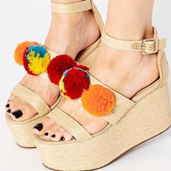 ASOS Shoes | Asos Pom Pom Platforms