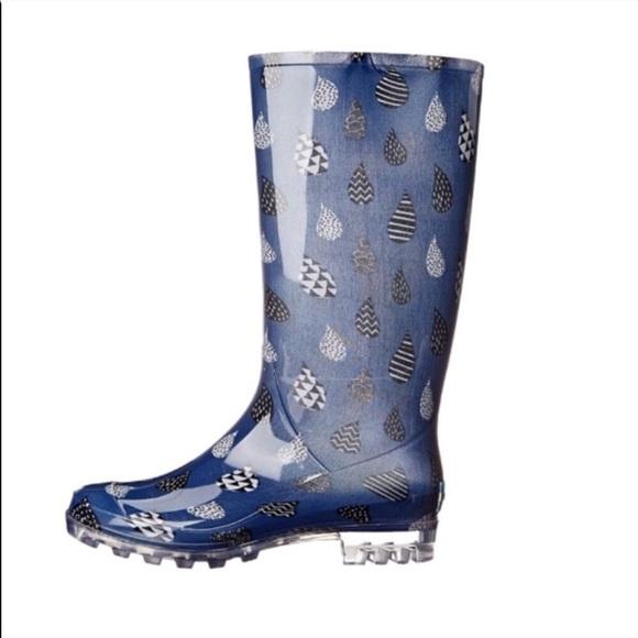 b05191f8541 NEW! Toms Cabrilla Midnight Blue Rain Boots. M 596e9c308f0fc49aee003377