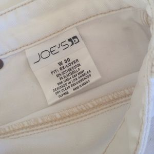 Joe's distressed white ankle jeans