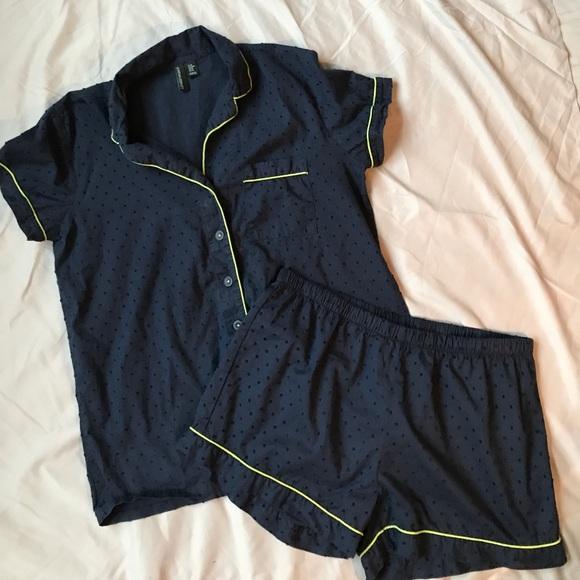 Cynthia Rowley Pajamas: Cynthia Rowley Polkadot Short Sleeve Pajama Set