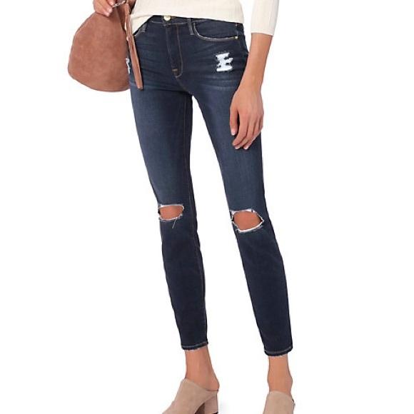 Frame Denim Jeans | Le High Skinny In Marlowe | Poshmark