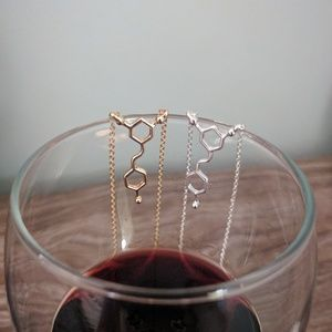 Jewelry -  2 for $15 Red wine necklace silver or gold