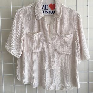 Great condition white sequin top!